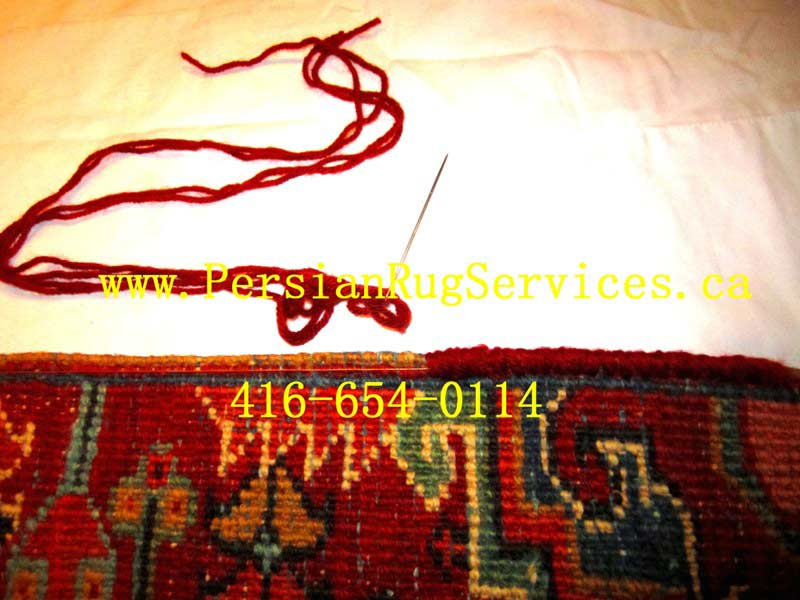 Persian Area Rug Repair - Serging Toronto