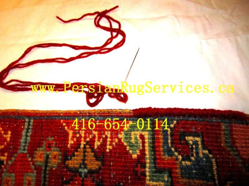 Persian Area Rug Repair - Serging Toronto