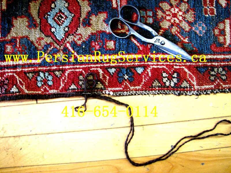 Oriental Rug Repair Toronto - serging
