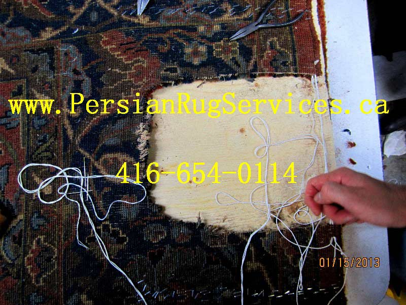 Reweaving Rug Repair