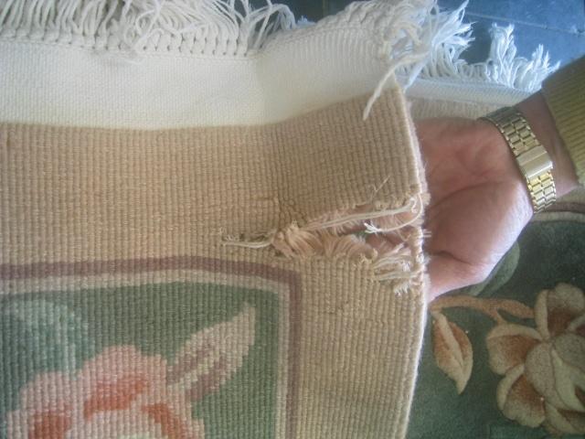 Area Rug Repair - Rips