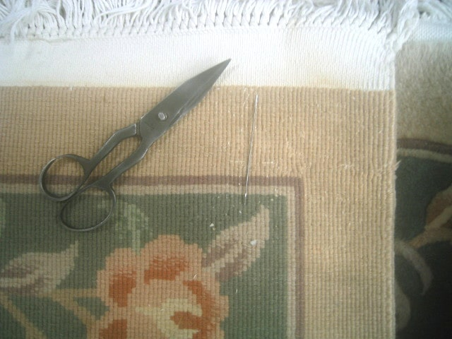 Persian Rug Rip Repair
